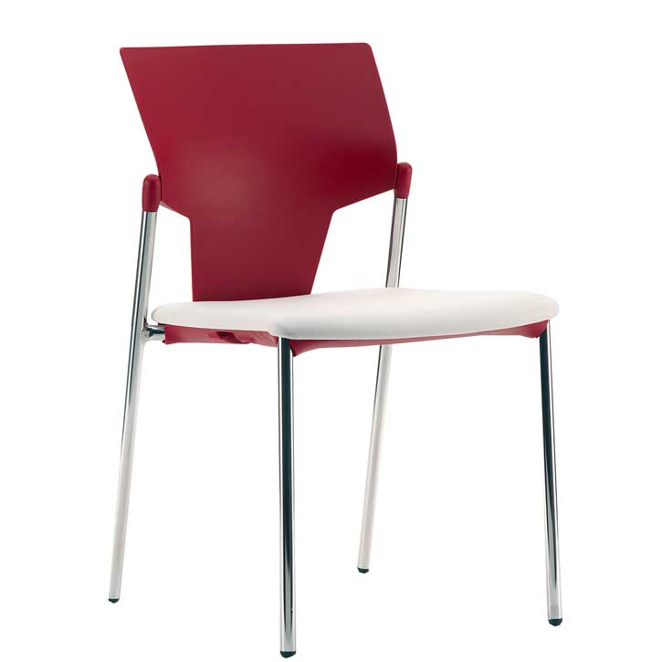 Ikon meeting chair with upholstered seat