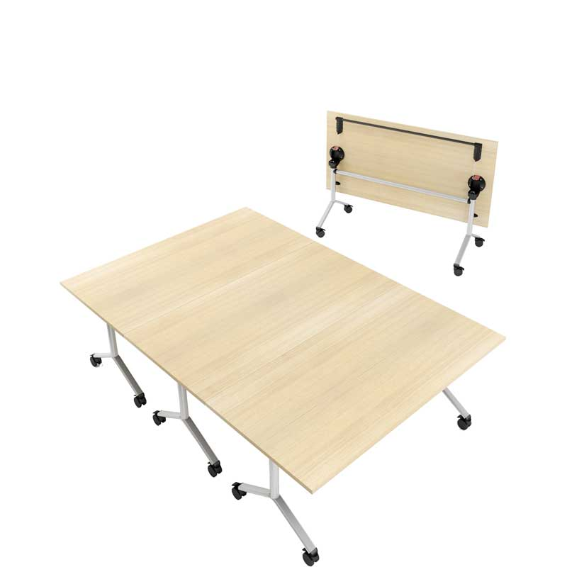 Flip top meeting table