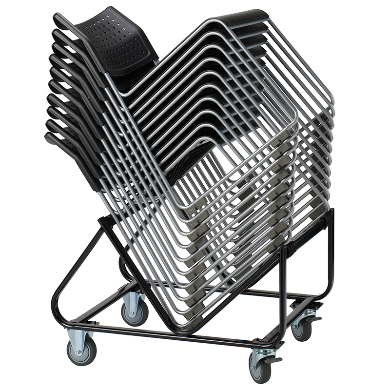 React stacking chair trolley