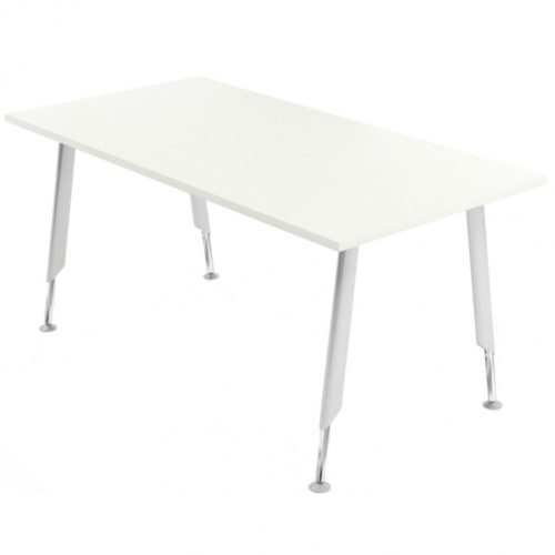 Rectangular white meeting table