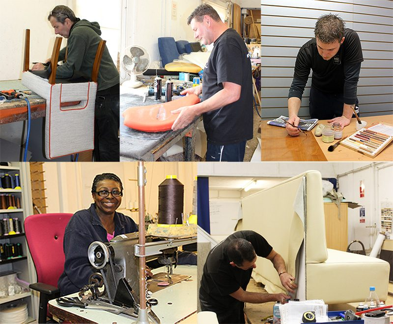 Our reupholstery workshop in Berkshire