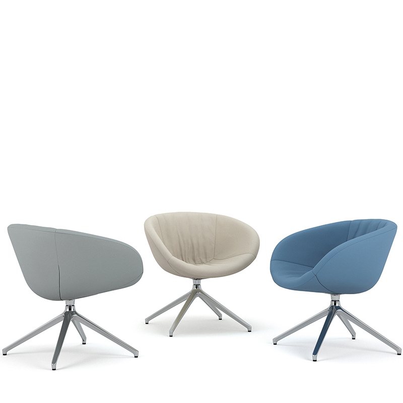 Ripple swivel tub chairs