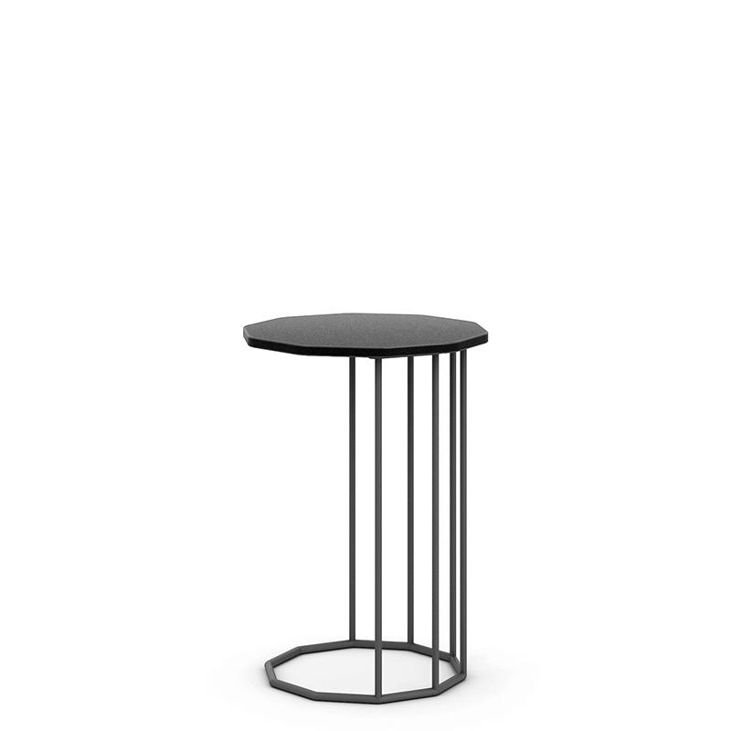 Tall black bistro table