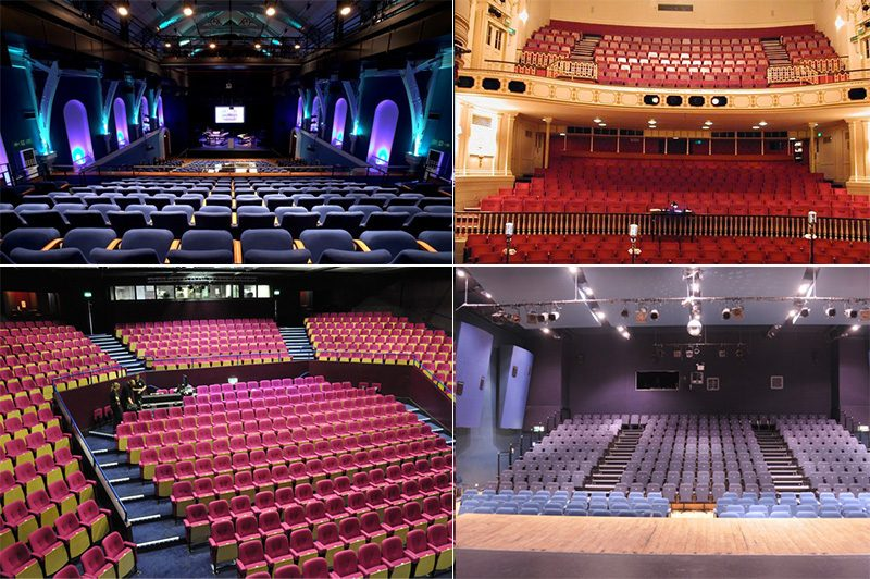 Reupholstery for theatres, arenas and auditoriums