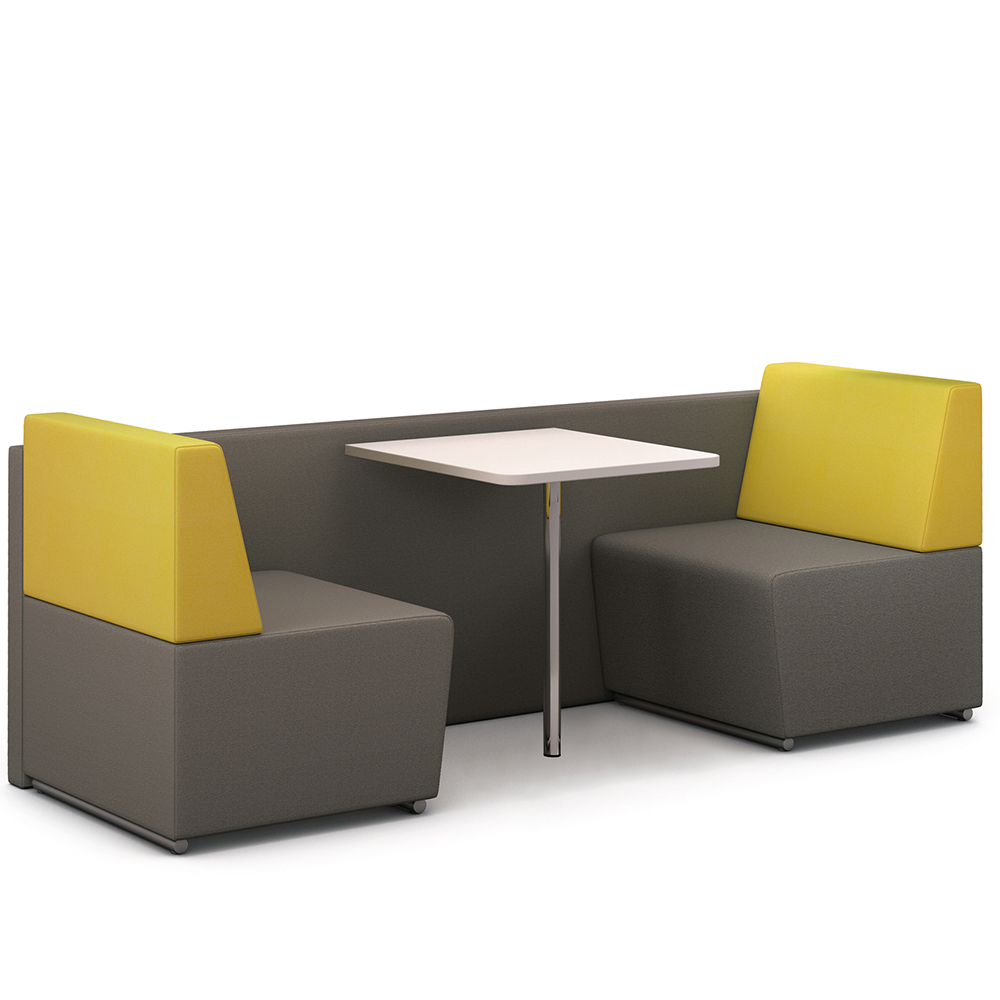 booth furniture pledge fifteen environments 4 seater booth with table