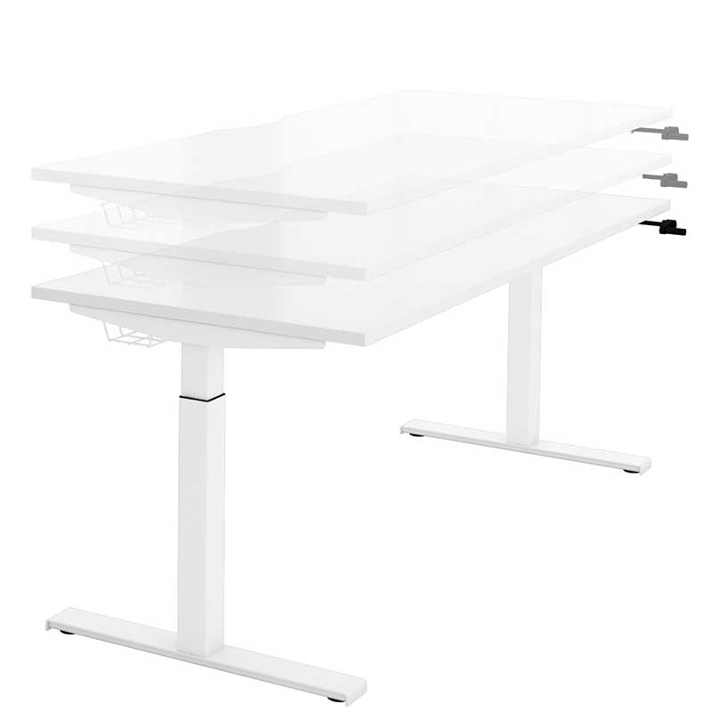sit stand desk with manual crank