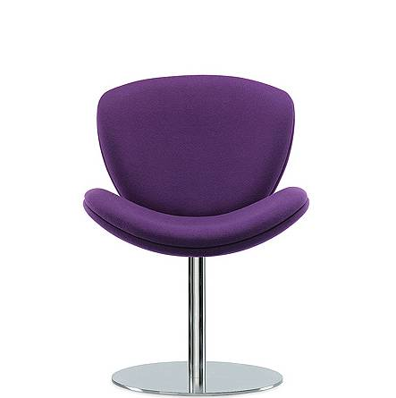 Purple chair with pedestal base