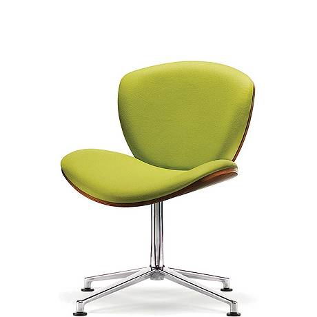 Spirit Lite swivel chair with walnut outer shell
