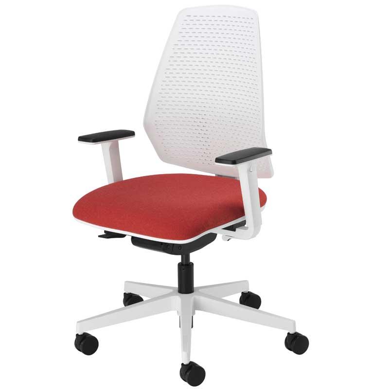 Mono white task chair - MONW212ADJ