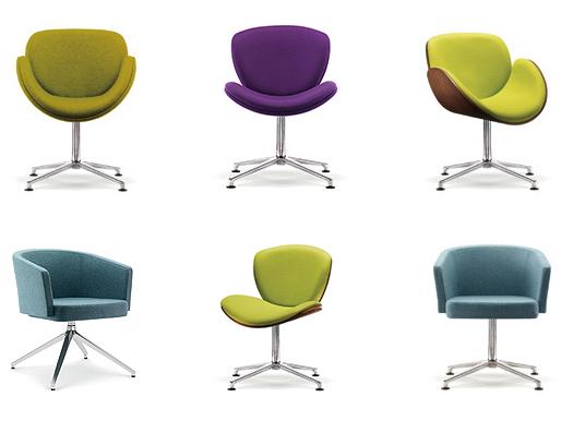 Swivel meeting chairs