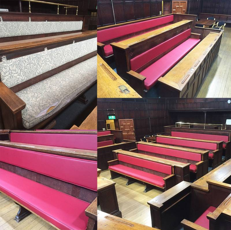 Reupholstery for council chambers, courts & commitee rooms