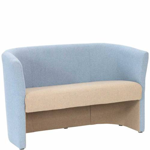 Two tone tub sofa - two seater