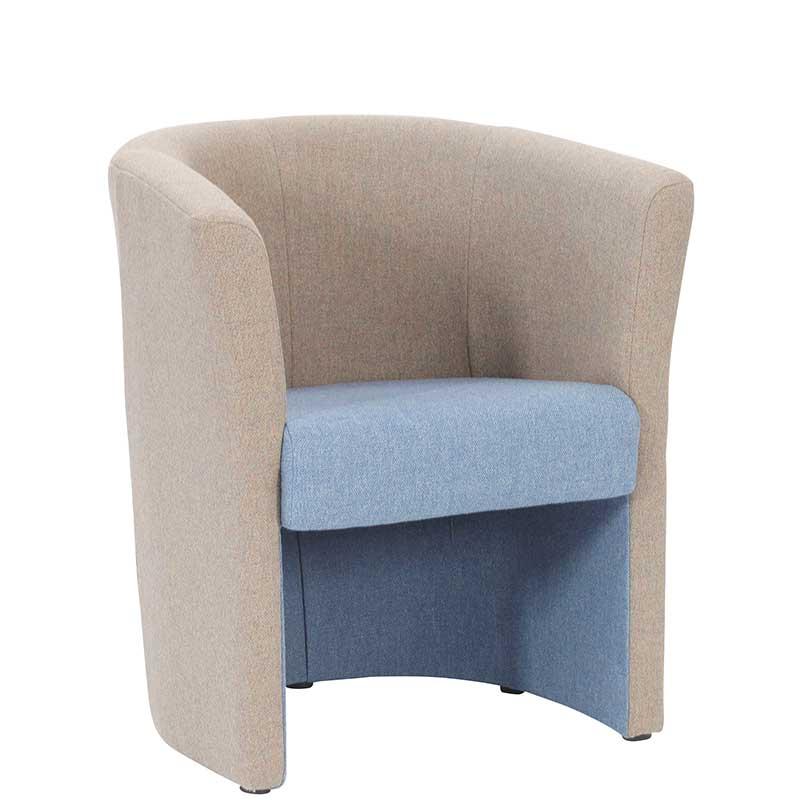 Tub two tone armchair