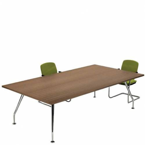 Zenith chrome 4 leg meeting table