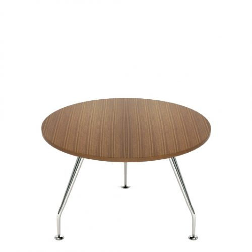 Zenith chrome circular top table