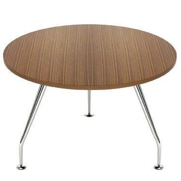 Zenith chrome circular top table