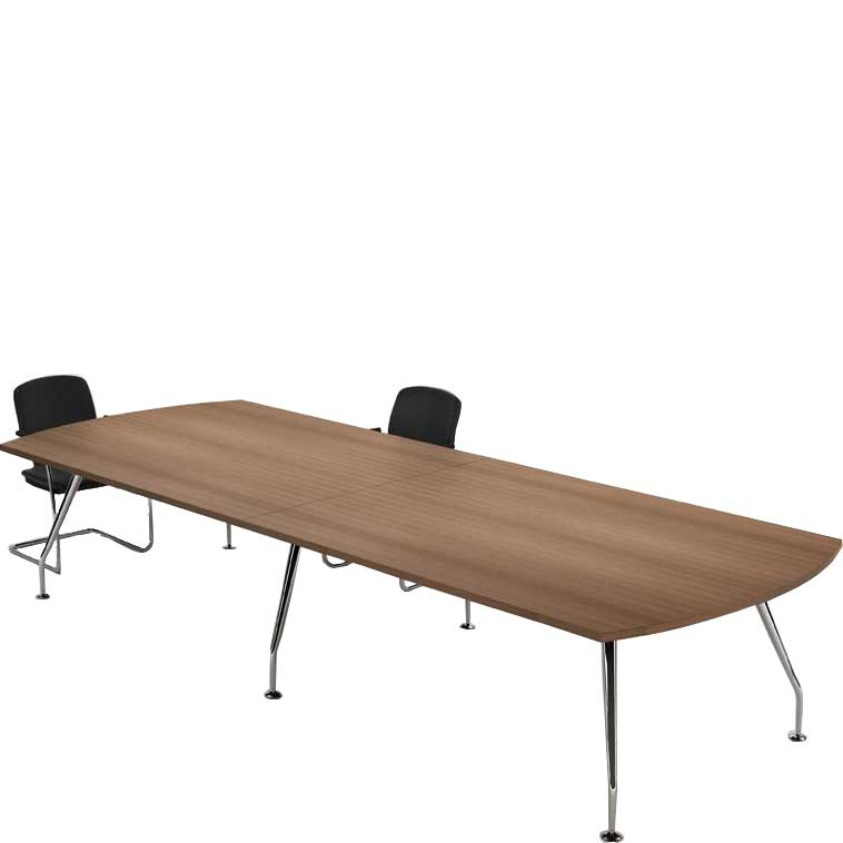 Zenith chrome D end boardroom table
