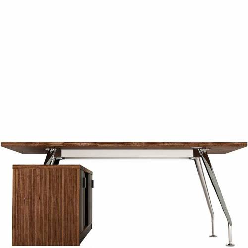 Zenith chrome executive desk with storage